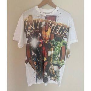 NWT Men's Marvel Avengers White T-Shirt Large